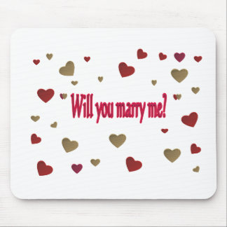 Will you marry me? mouse pad