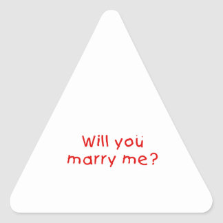 Will you marry me ? Mug Button Bags Keychain Watch Triangle Sticker