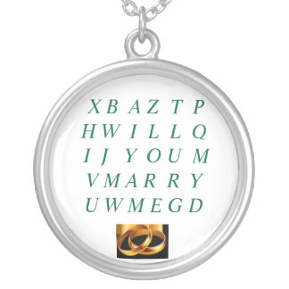 Will You Marry me Necklace with two Gold Bands