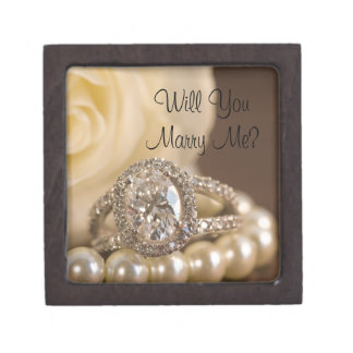 Will You Marry Me Oval Diamond Engagement Ring Box