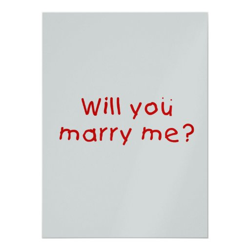 Will you marry me ? Photo Print Stamp Sticker Card | Zazzle