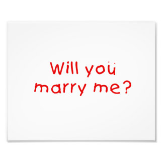 Will you marry me ? Photo Print Stamp Sticker