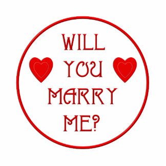 Will you marry me? photo cut outs