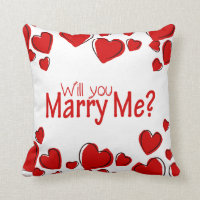 Will You Marry Me Pillow | Hearts
