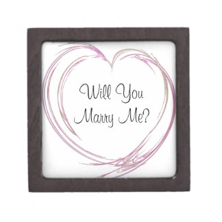 Will You Marry Me Pink Heart Engagement Ring Box