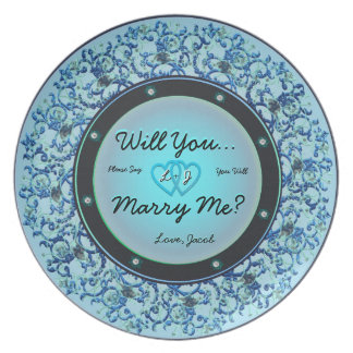 Will You Marry Me Plate