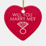 Will You Marry Me? Proposal Diamond Ring Christmas Tree Ornament