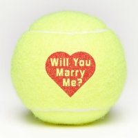 Will You Marry Me? Proposal Tennis Balls 3x