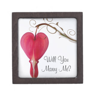 Will You Marry Me Red Heart Engagement Ring Box