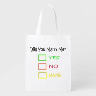 Will You Marry Me? Reusable Grocery Bag