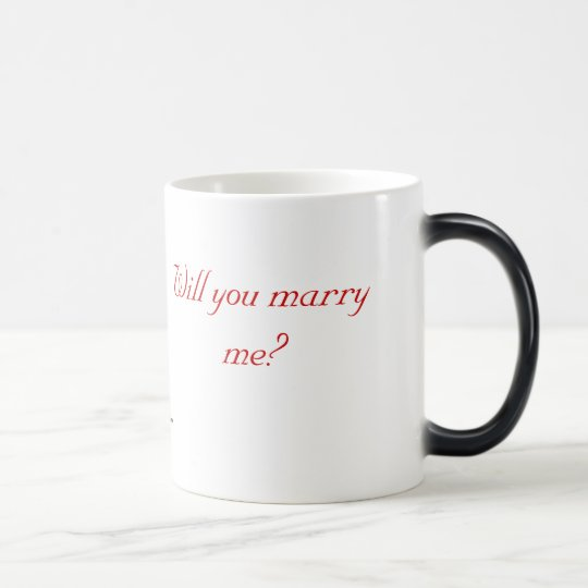 Will You Marry Me? (Right/Left) Magic Mug