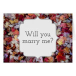 """[ Thumbnail: """"Will You Marry Me?"""" + Rustic Fallen Autumn Leaves ]"""