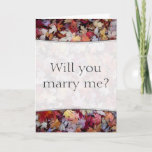 """[ Thumbnail: """"Will You Marry Me?"""" + Rustic Fallen Autumn Leaves Card ]"""