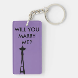 Will you marry me Seattle Washington keychain