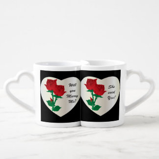 Will You Marry Me? She said Yes Mugs