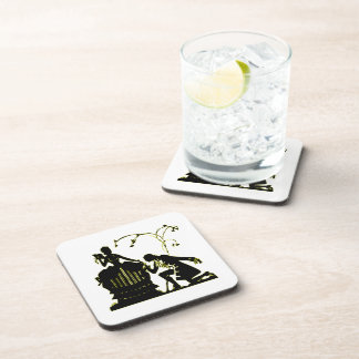 """""""Will you Marry me?"""" Silhouette Drink Coaster"""