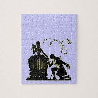 """""""Will you Marry me?"""" Silhouette Jigsaw Puzzle"""
