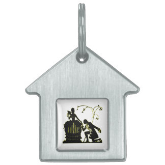 """""""Will you Marry me?"""" Silhouette Pet ID Tag"""
