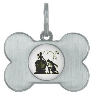 """""""Will you Marry me?"""" Silhouette Pet Name Tag"""