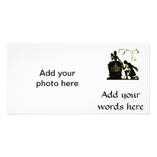 """""""Will you Marry me?"""" Silhouette Custom Photo Card"""