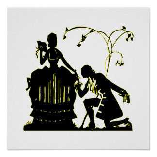 """""""Will you Marry me?"""" Silhouette Poster"""