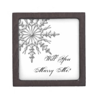 Will You Marry Me Snowflake Engagement Ring Box