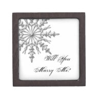 Will You Marry Me Snowflake Engagement Ring Box Premium Gift Boxes