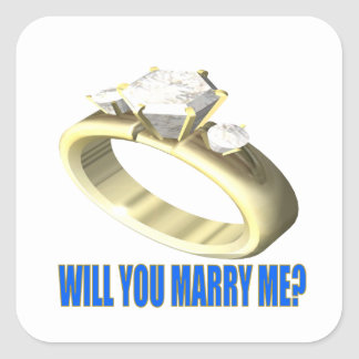 Will You Marry Me Square Sticker