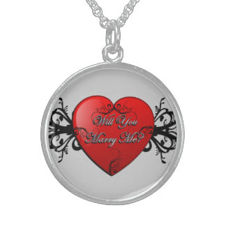 Will You Marry Me Sterling Silver Pendant