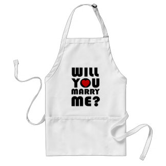will_you_marry_me_t-shirt delantal