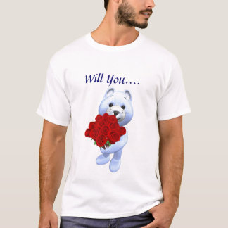 Will you Marry Me T Shirt-See Back T-Shirt