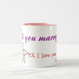 Will you marry me? Two-Tone coffee mug