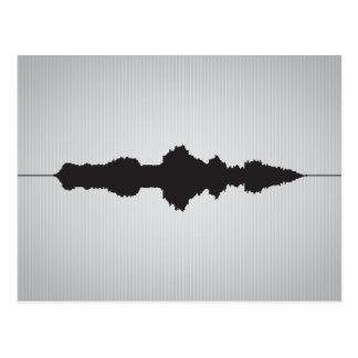 Will You Marry Me Waveform Postcard 3
