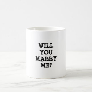 WILL YOU MARRY ME? wedding proposal Mug :)