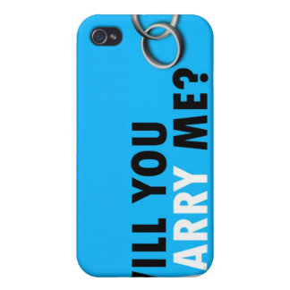 Will you marry me? with wedding rings Ipod 4 case iPhone 4 Covers