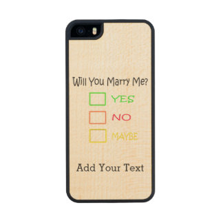 Will You Marry Me? Carved® Maple iPhone 5 Case