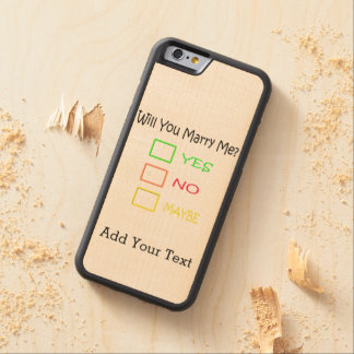 Will You Marry Me? Carved® Maple iPhone 6 Bumper Case