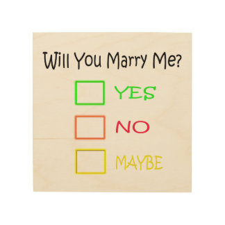 Will You Marry Me? Wood Wall Decor