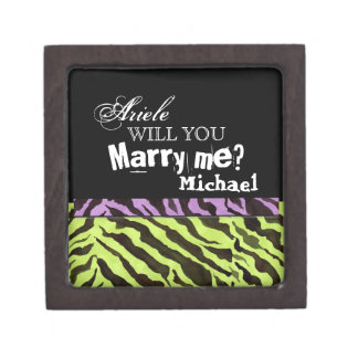 Will You Marry Me? Zebra Engagement Ring Gift Box