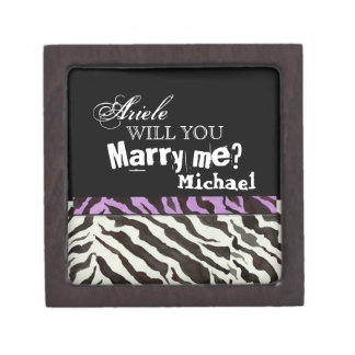 Will You Marry Me? Zebra Engagement Ring Jewelry Box