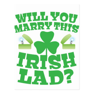 Will you marry this irish lad? postcard