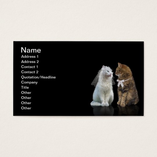 Will you meow me? business card