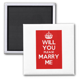 Will You Please Marry Me (Red) Magnet