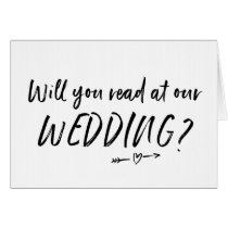 Will You Read at Our Wedding Card