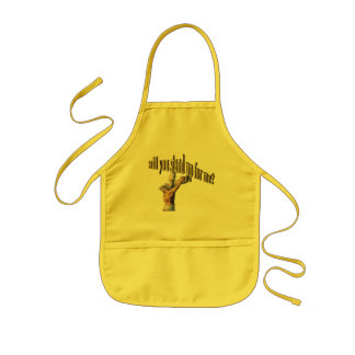 will you stand up for me kids' apron