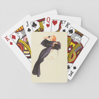 Will You Surely Help Me Pin Up Art Playing Cards