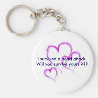 Will you survive your heart attack ??? keychain