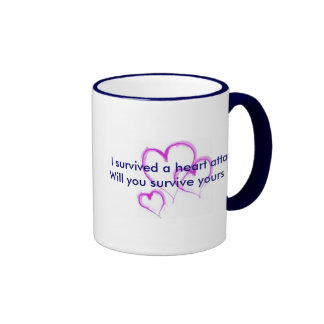 Will you survive your heart attack? ringer coffee mug