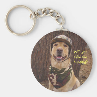 Will You Take Me Hunting? Basic Round Button Keychain