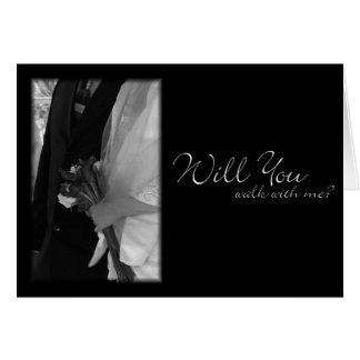 """Will You Walk With Me?"" Wedding Request Card"